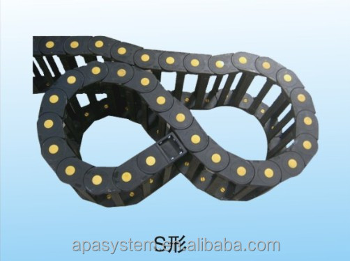 cable wire carrier drag chain/ cnc plastic electric cable chain