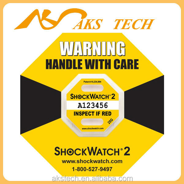 2017 new model impact sticker Shockwatch 2
