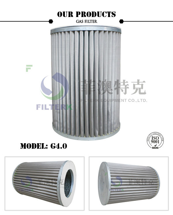 FILTERK G4.0 20 Micron Gas Filter Cartridge With Stainless Steel Mesh