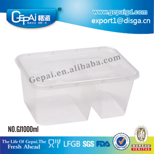 NO.GJ1000ml.jpg  sc 1 st  Alibaba & Food Grade Disposable Plastic Lunch Box Tiffin Carrier With Clear ...
