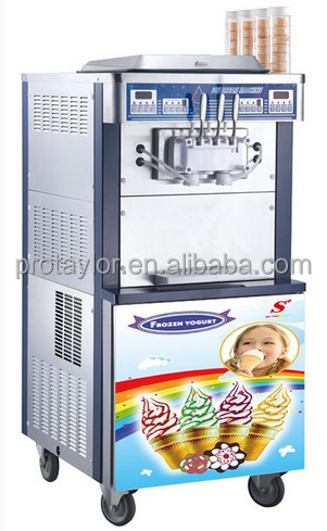 3 Embraco compressors commercial soft serve ice cream machine