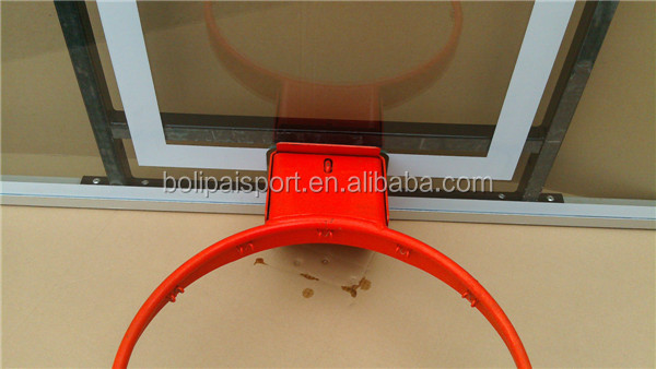 FIBA size high quality 12 mm tempered glass basketball backboards