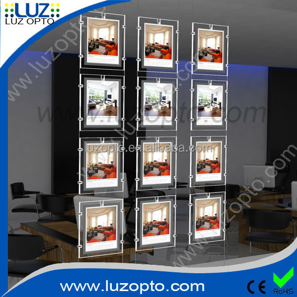 acrylic window display, led lightbox acrylic display a4,acrylic panel led display a4