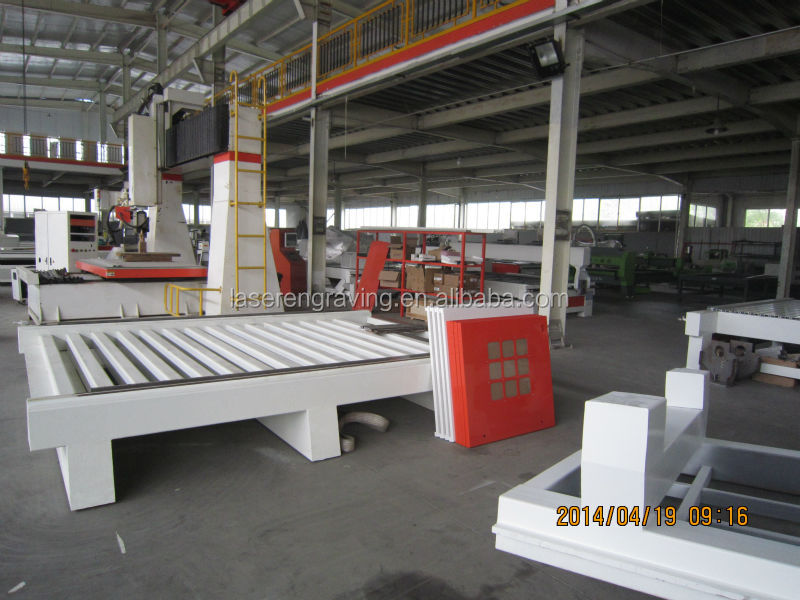 1300*2500mm cnc wood router with stepper motor and driver,dsp control system,square orbit,water or air cooling spindle