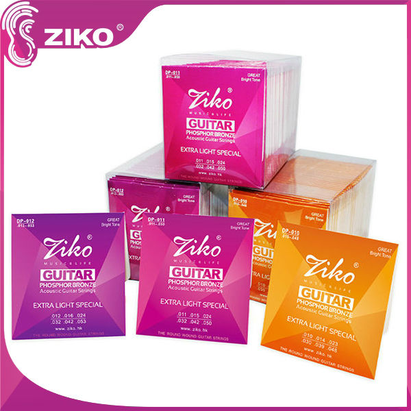 ziko bulk bronze acoustic strings for student guitar