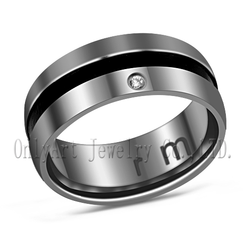 cheap wholesale popular style men's stainless steel gold rings