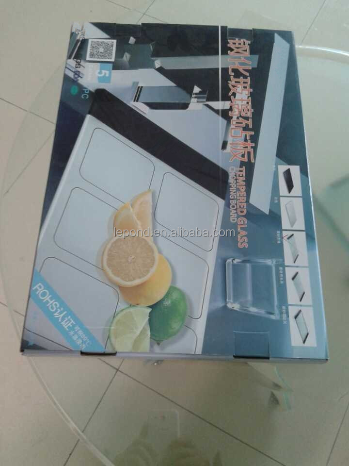 High-strength tempered glass kitchen cutting board