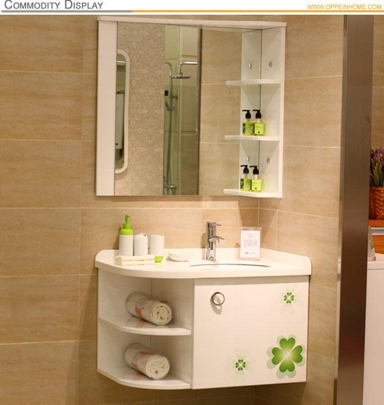 sorte trevo de laca alto brilho pvc canto do armário de banheiroPenteadeiras -> Armario De Banheiro De Canto Com Espelho