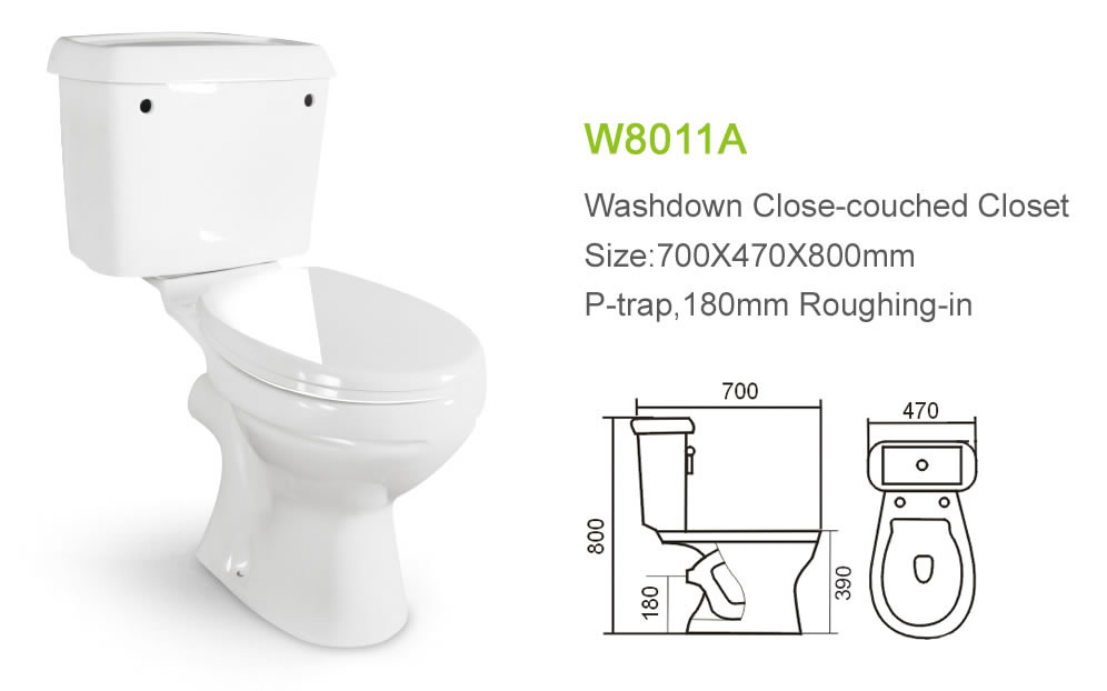 Outhouse Blue Two Piece Type of Water Closet W8011A