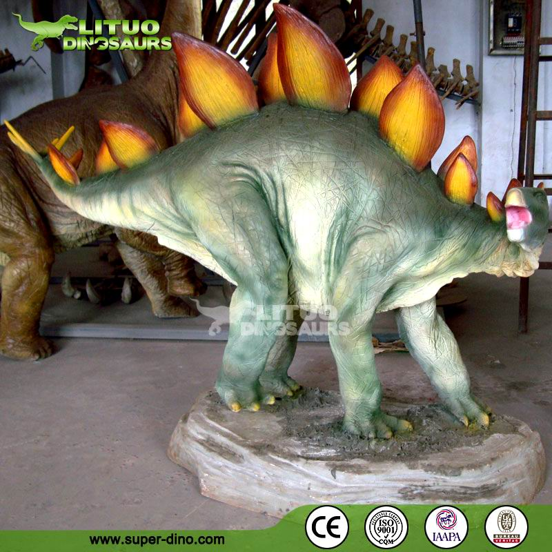 Dinosaur Statue for Theme Park Fiberglass Decoration