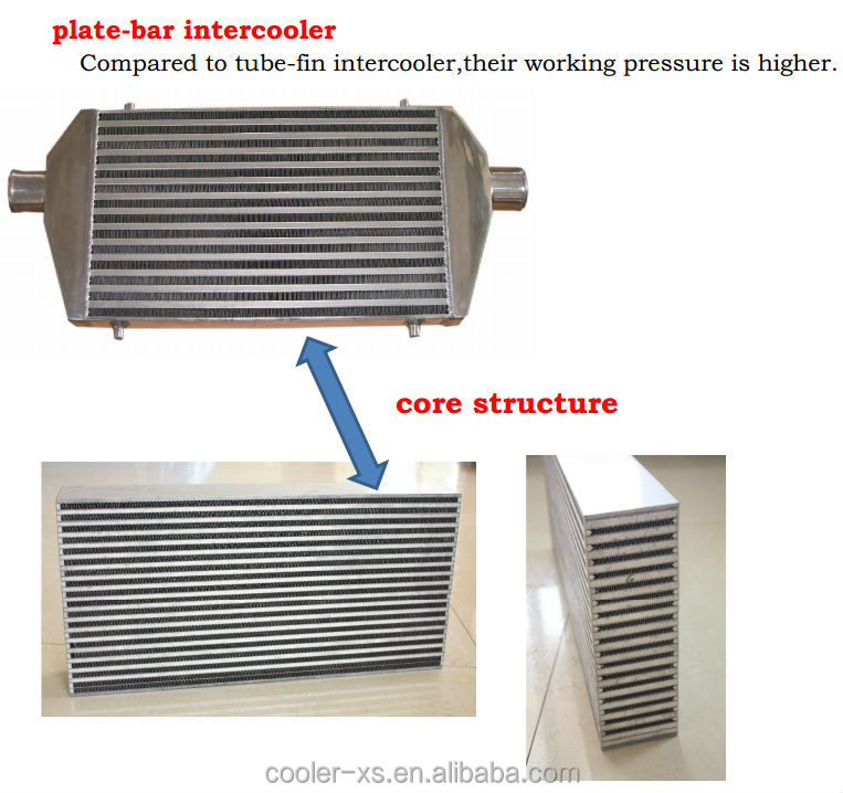 550mm*180mm*65mm front mount universal Intercooler
