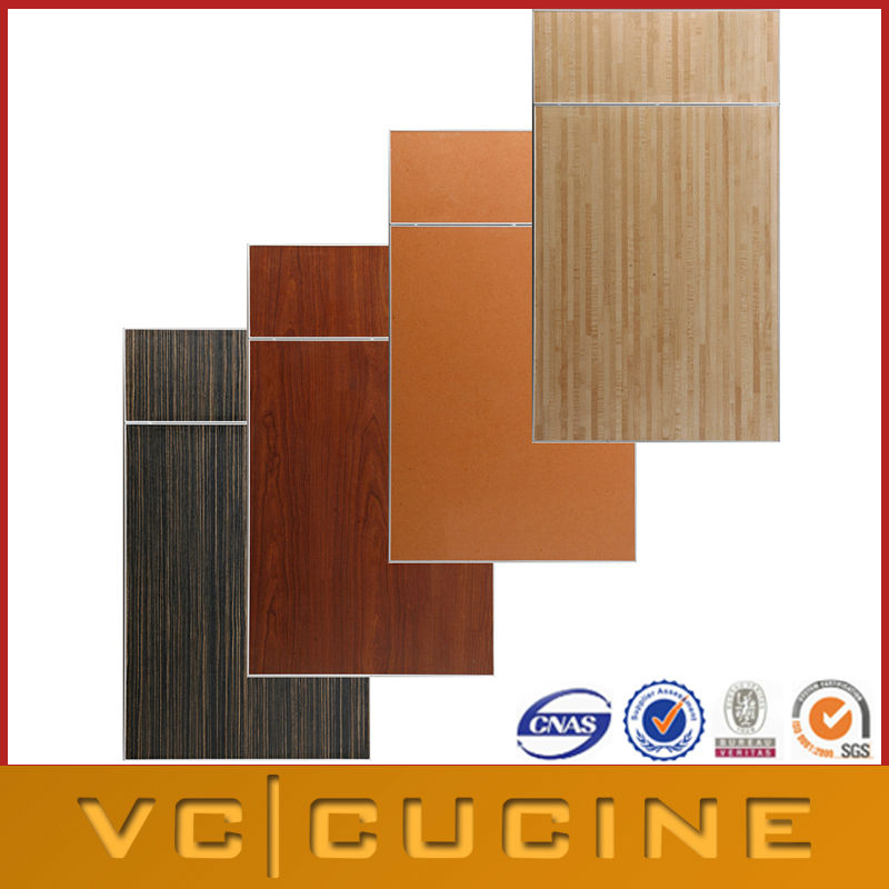 Different wood veneer kitchen cabinet doors