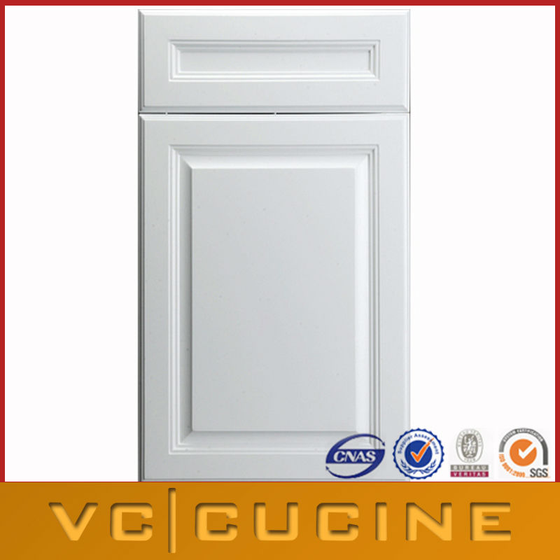 Raised panel white PVC cabinet doors