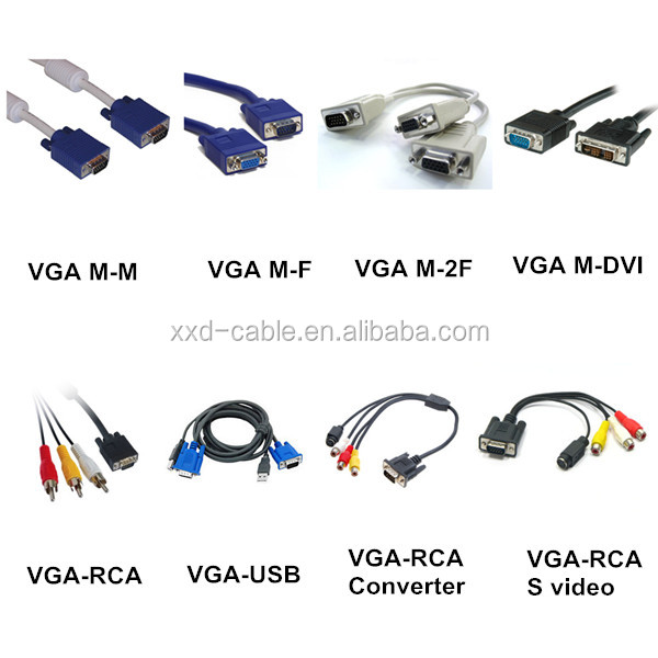 Pure Copper 15Pin VGA to VGA cable