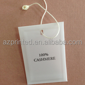 synthetic paper garment button bag with seal plastic string
