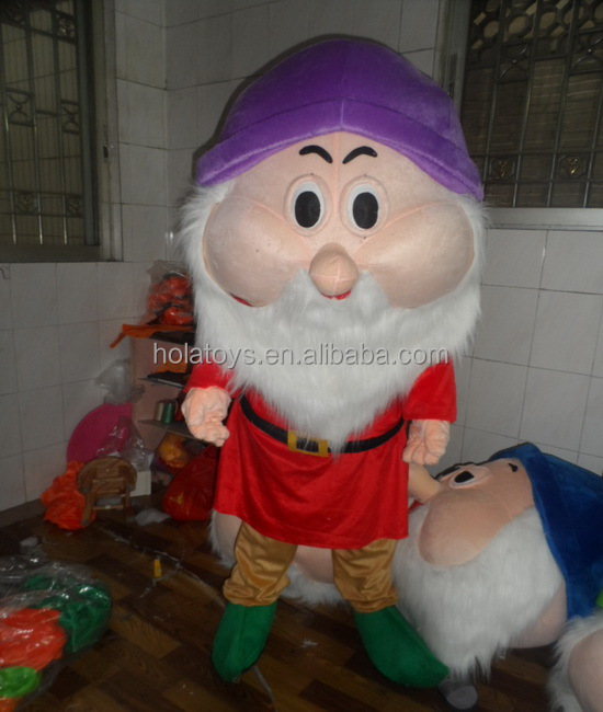 The seven dwarfs costumes for adult/costume/mascot costume