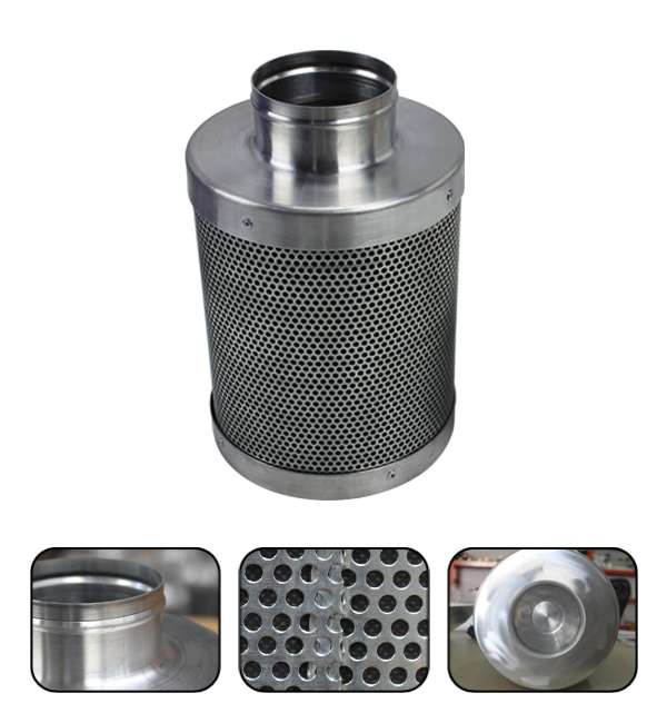 "4""x8"" Stainless Steel Mesh Activated Carbon Air Filter"