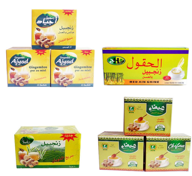 Ginger tea with honey 9gx20sachetsx24boxes Instant Honey ginger drink