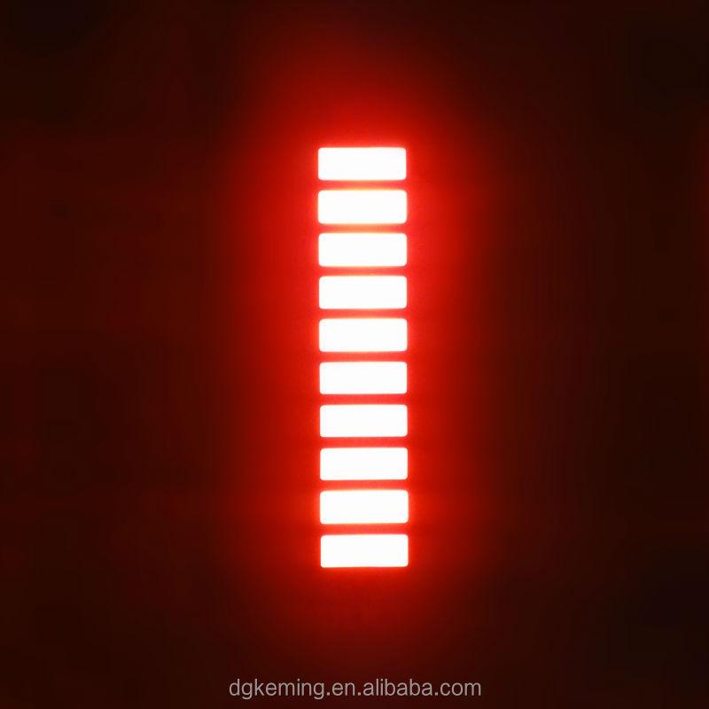 Ten 10 segments led display 3 triple colors graph led 10 bar