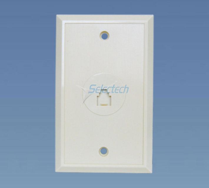Single port US telephone wall plate