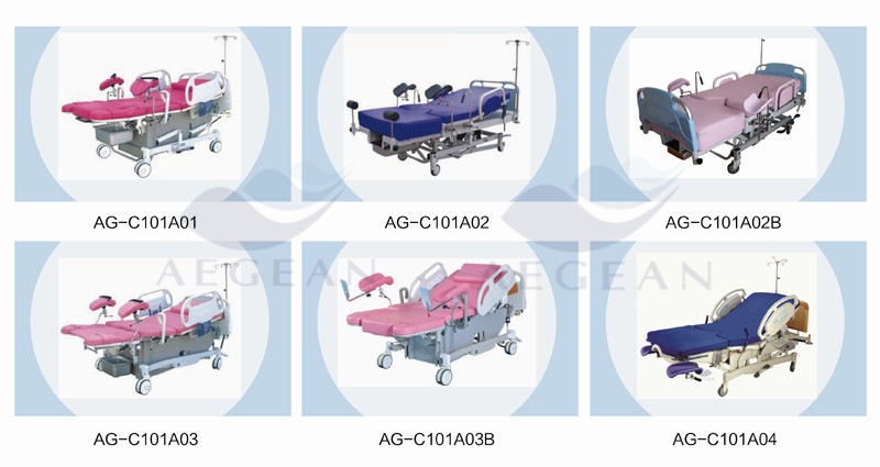 AG-C101A03 Popular hospital obstetric birthing room female sleep electrical bed delivery
