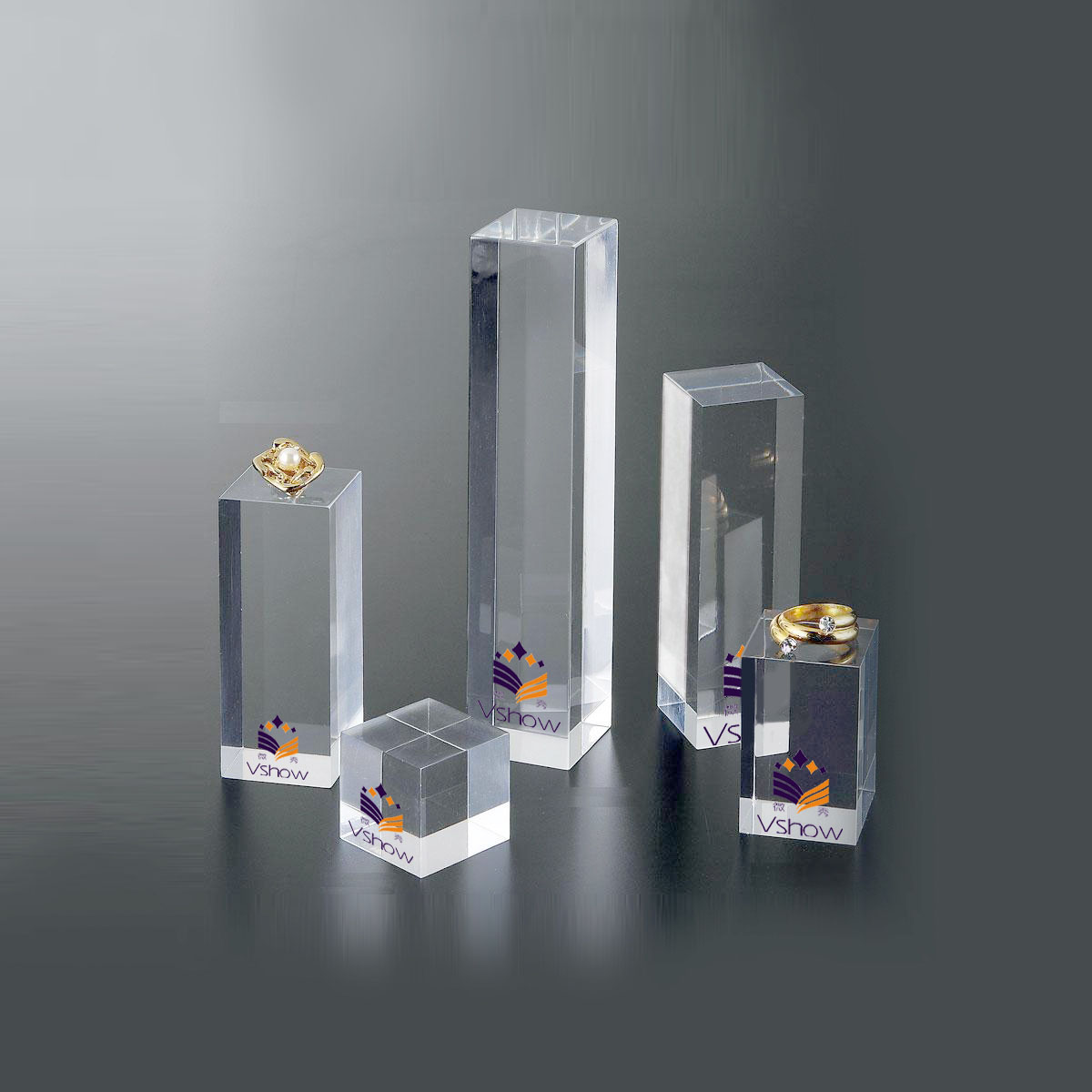 High Grade Clear Acrylic Risers Block/clear Solid Acrylic Display Cube