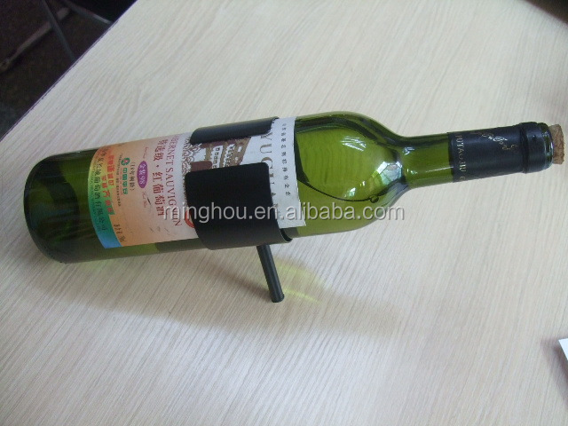 stainless steel fort single bottle holder decorative countertop wine rack
