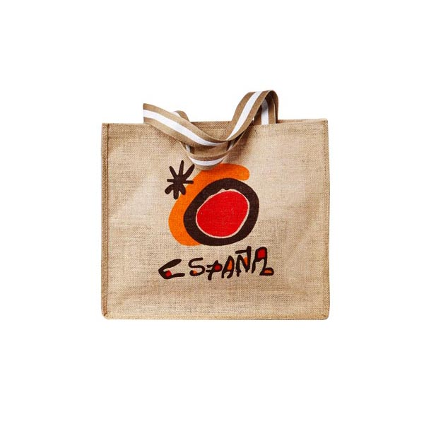 Eco-friendly Printed Natural Jute shopping Bag, linen bag,jute bag wholesale