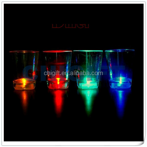 Wholesale Glassware Light Up Shot Cup for Weddings and Events