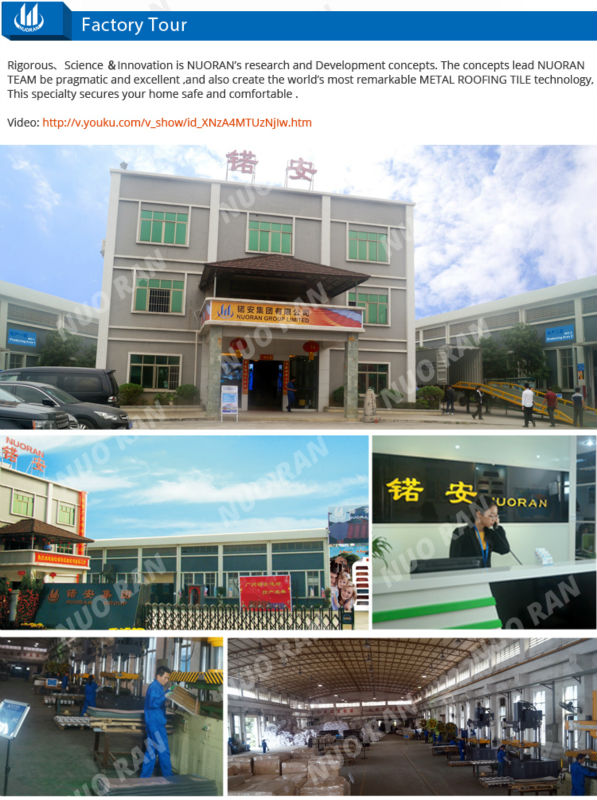 Nuoran roof tile china aluminium iron heat insulation building