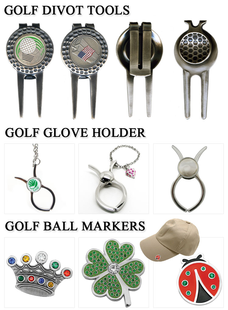 custom soft enamel logo golf divot pitch marks