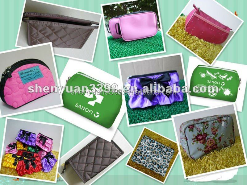Promotional Big Mouth Gloss Leather cosmetic bag for woman
