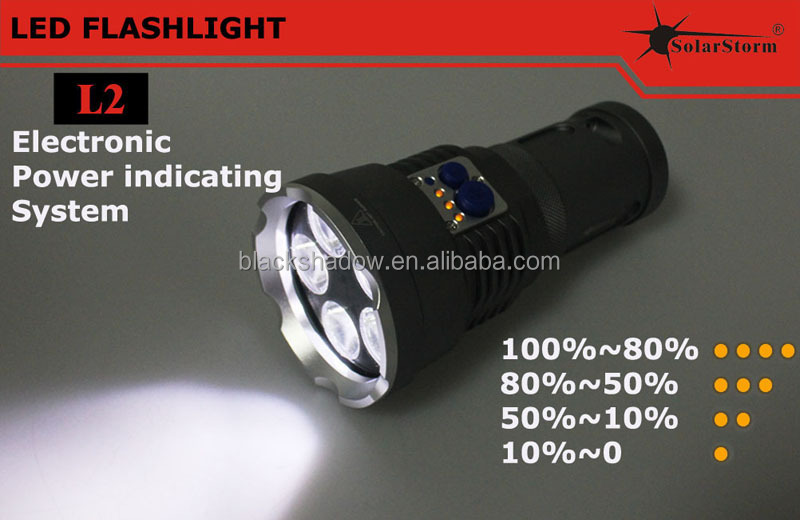 Hot sale 2014 newest Solarstorm L2 aluminum waterproof most powerful cree led flashlight
