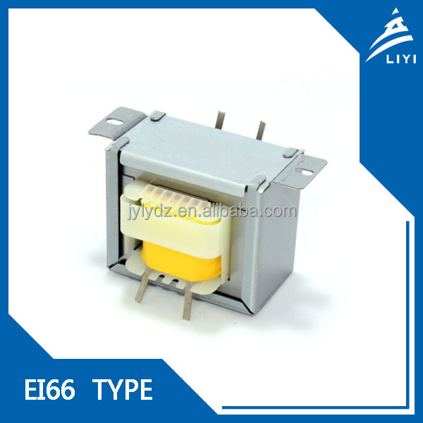 iron core low-frequency transformer with lead wire EI66 from Chinese Factory