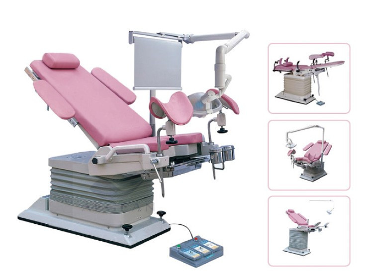 AG-S104A Pinky Color electric adjustable gynecology chair