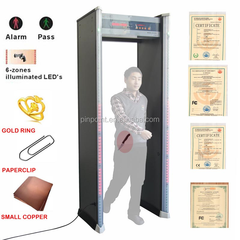 Pinpoint factory body scanner door frame metal detector PD-2000 metal detector security gate used for military