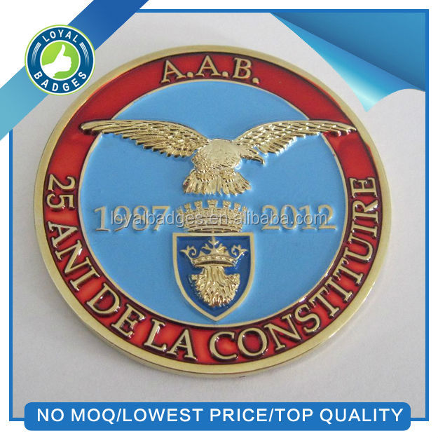 High quality cheap custom metal challenge souvenir coin
