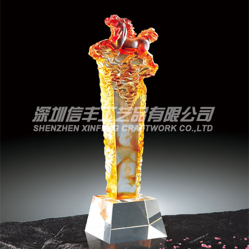 Chinese Traditional Custom Glass Wholesale Trophy