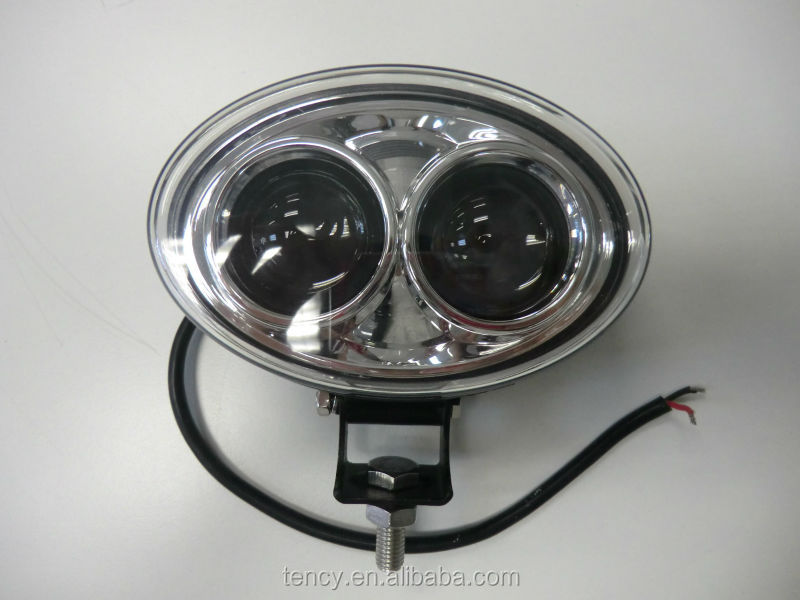 DC9-48V Blue Oval LED Spot Light, Blue LED Forlift Spot Light (KF-FT-BL01), 3W per LED,Silver inside housing