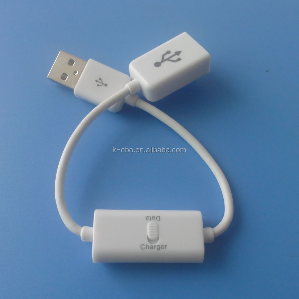 FOR IPAD USB Data Charge & Sync Extension Cable with switch