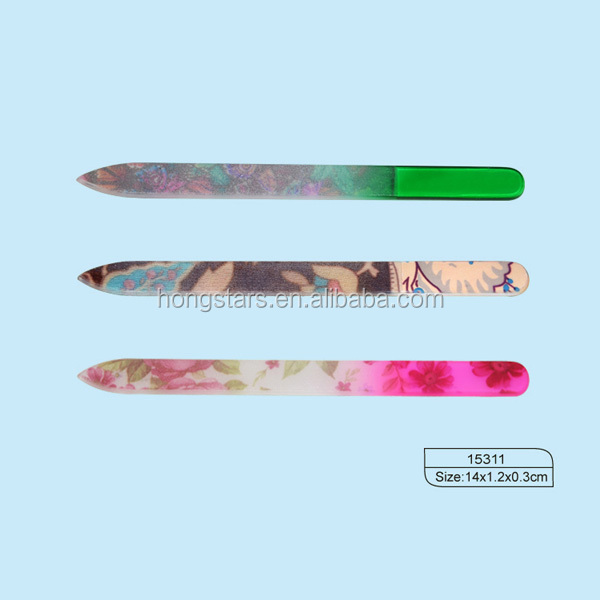 Meidao New Supplies Art Design Glass Crystal Nail File