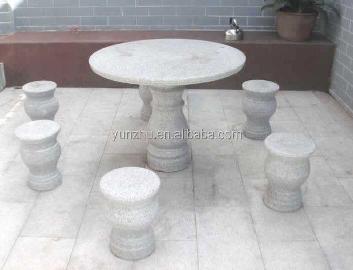poli jardin table de granit et banc buy product on. Black Bedroom Furniture Sets. Home Design Ideas