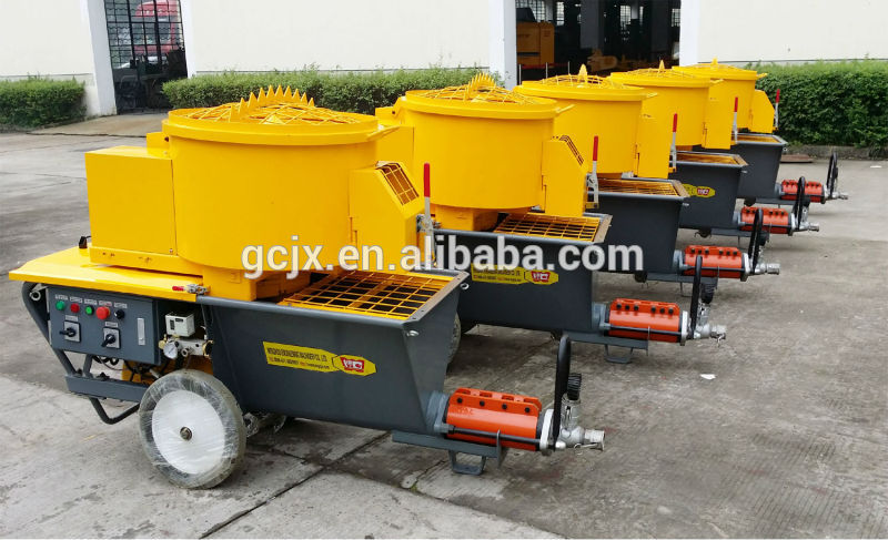 cement mortar fireproofing spray spraying plaster pump machine