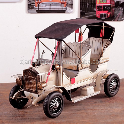 Metal arts and crafts antique cars models for decoration