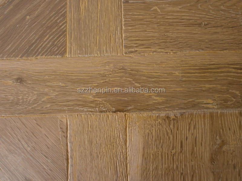 Rustic Oak Wood Versailles Parquet Wood flooring wire brushed european oak engineered wood flooring(wood species can be changed)