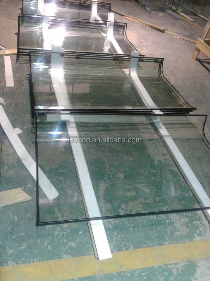 China factory hot bending glass/toughened curved glass