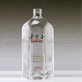 Factory production of refined glass bottle