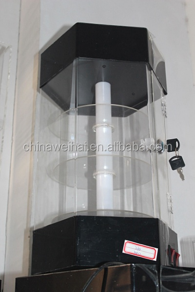 Acrylic Rotating Lighter Display Cabinet