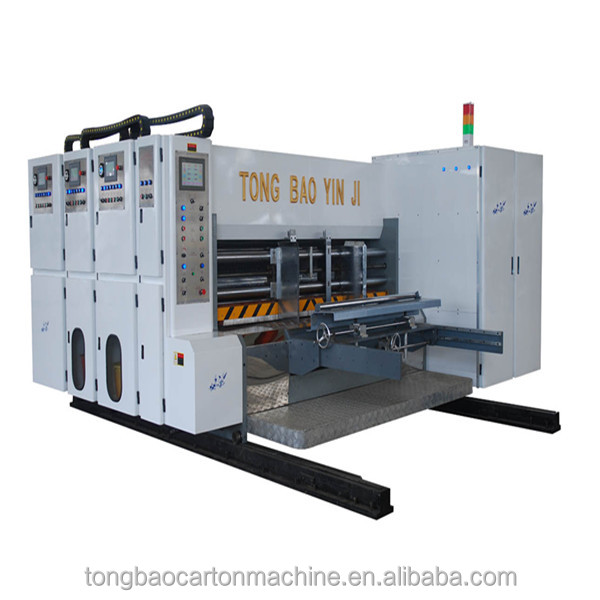 computer full-automatic high speed double color printing slotting and die-cutting machine