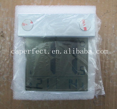 Large LCD display digital solar window thermometer